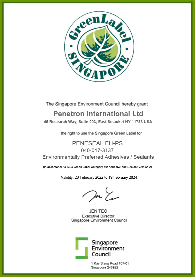 Singapore Green Label - PENESEAL FH-PS