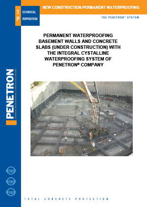 New Construction Penetron Admix  Crystalline Waterproofing System